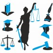 Black and blue icons for lawyers