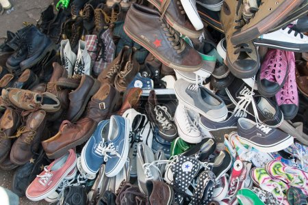 Heap of shoes