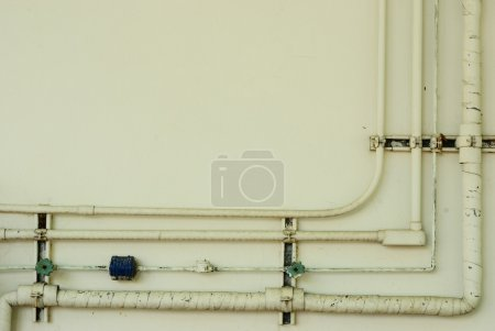 Old pipe line on wall