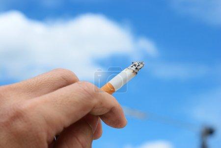 Hand of smoker