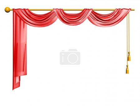 Photo pour Rideau rouge - image libre de droit
