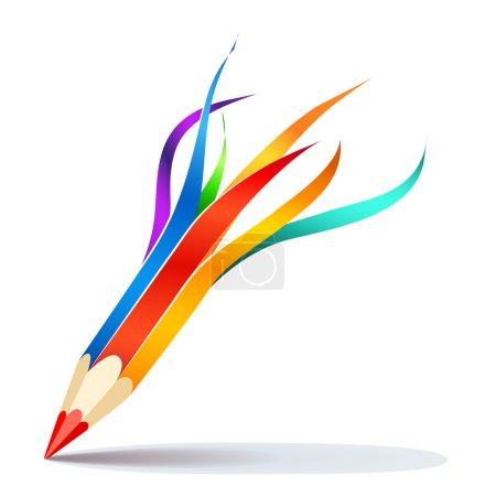 vector Pencil of visual art