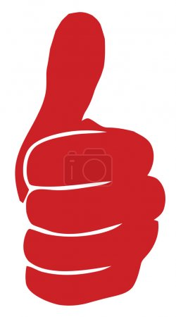 Red Like hand