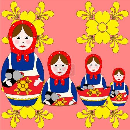 Illustration of Nesting doll