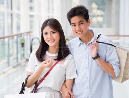 Photo for Asian couple go shopping together - Royalty Free Image