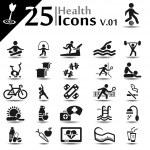 Health icons set, basic series