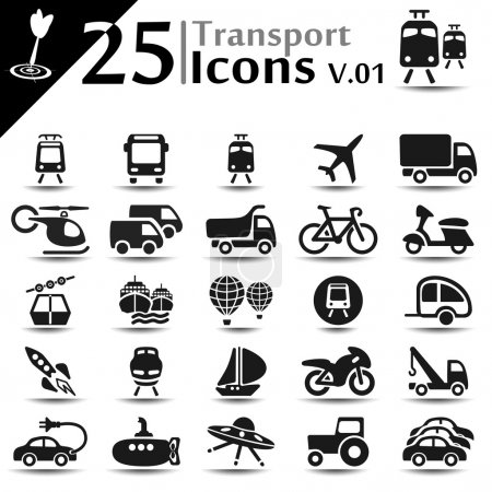 Illustration for Transport icons set, basic series - Royalty Free Image