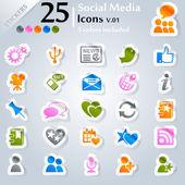 Sociální media ikony v.01
