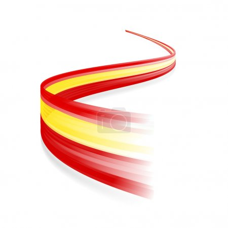 Illustration for Abstract Spanish waving flag isolated on white background - Royalty Free Image
