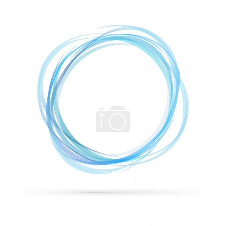 Illustration for Blue rings logo isolated on white background - Royalty Free Image
