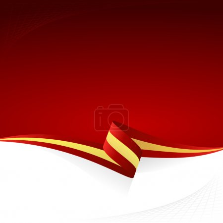 Illustration for Abstract color vector background Spanish flag - Royalty Free Image