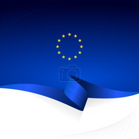 Abstract color vector background European flag...