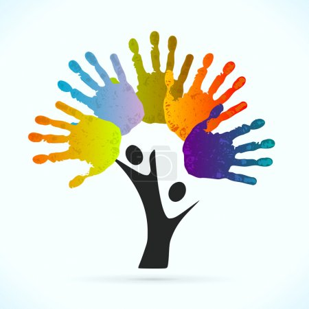 Illustration for Hands tree vector concept illustration - Royalty Free Image