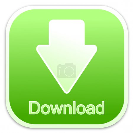 Photo pour Télécharger bouton vert dans le carré - image libre de droit
