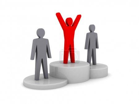 Winners podium. Concept 3D illustration.