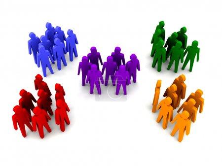 Foto de Diferentes grupos de personas. Ilustración 3d concepto - Imagen libre de derechos