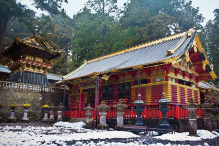 Toshogu Shrine in Winter, Nikko, Japan