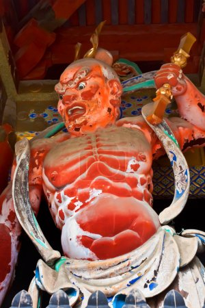 Nio (Benevolent Kings Sculpture) at Toshogu shrine in Nikko