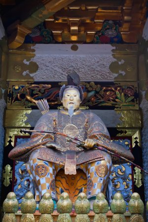 Statue of Shogun Ieyasu at Toshogu Shrine in Nikko