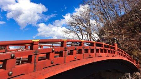 Shinkyo the Sacred Bridge at Nikko, Japan