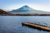 Mt. Fuji from Lake Kawaguchiko in Japan