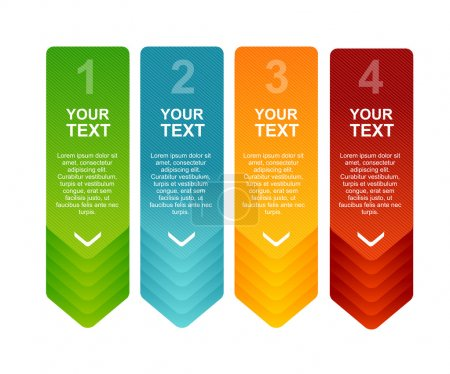 Illustration pour Modèles de discours de vecteur pour texte 1 2 3 4 - image libre de droit