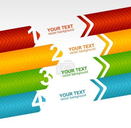 Illustration pour Modèles de discours de flèche pour texte 1 2 3 4 - image libre de droit