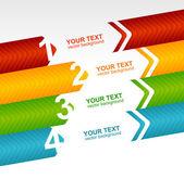 Arrow speech templates for text 1 2 3 4