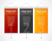 Set of Blank roll up posters