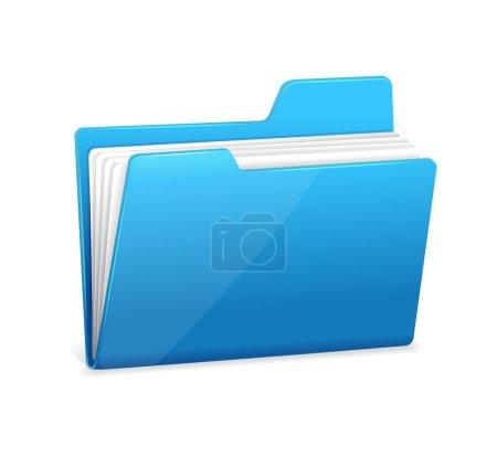 Illustration for Blue file folder icon isolated on white - Royalty Free Image