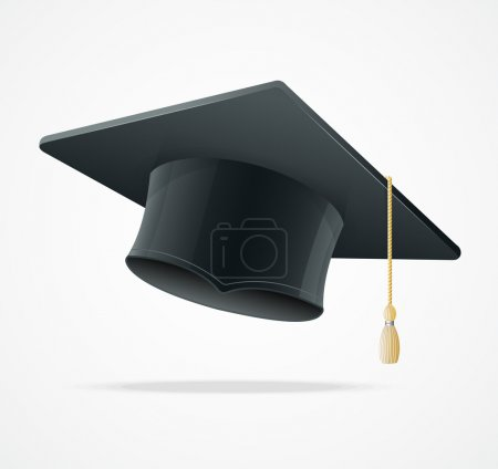 Illustration for Education Cup on White Background. Graduation Cap. Student hat. - Royalty Free Image
