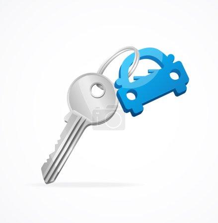 Car keys and blue key chain