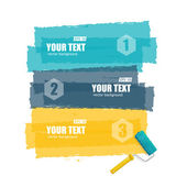 Vector roller brush for text options banner
