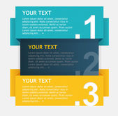 Vector colorful text boxes options banner