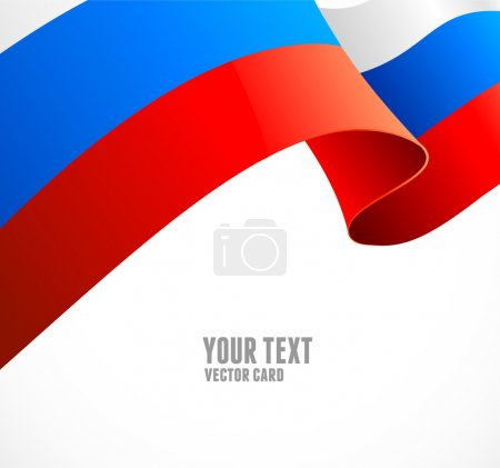 Russian flag border vector illustration on white background