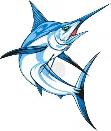 Illustration pour Naturel makaire bleu sur fond blanc - image libre de droit