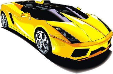 Illustration pour Ma conception originale de voiture de sport isolé sur fond blanc - image libre de droit
