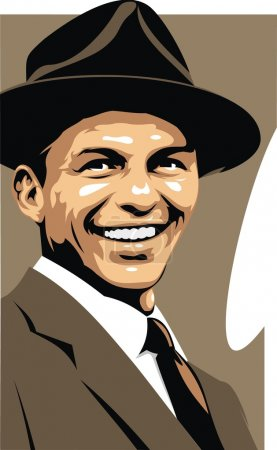 Frank Sinatra - my original caricature in brown co...