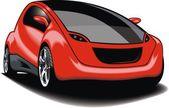 Moje původní sportovní auto (můj návrh) v červené barvě