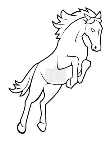 Vector illustration of horse jump