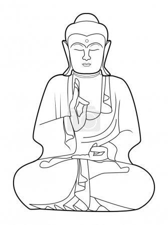 Vector illustration of buddha