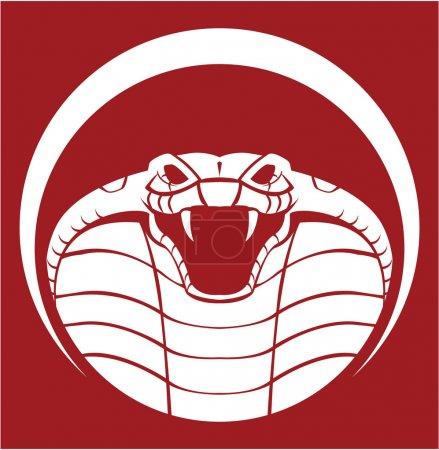 Illustration pour Illustration vectorielle de l'emblème cobra - image libre de droit