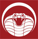 Illustration of cobra emblem