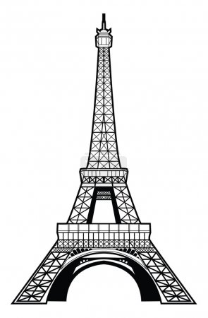 Illustration for Vector illustration of eiffel tower - Royalty Free Image