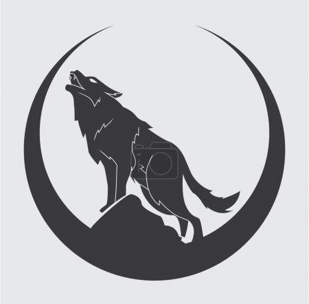 Illustration pour Illustration vectorielle du symbole du loup - image libre de droit