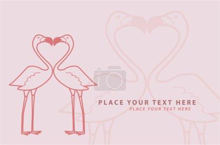 Illustration of Flamingo Kiss