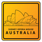 Illustration of Sydney Opera house card