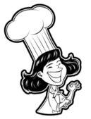 Illustration of Female Chef