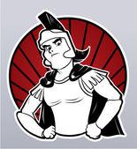 Vector illustration of warrior