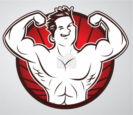 Illustration of body builder